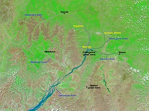 Collingwood, Queensland - Image: Channel Country Flooding Collingwood After NASA Toponymy