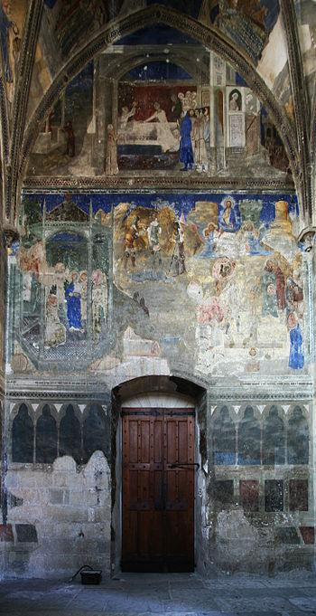 Français : Chapelle saint Martial - mur ouest ...