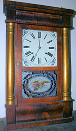 A 19th-century Chauncey Jerome clock.