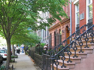 Townhouses in Chelsea; much of this Manhattan ...