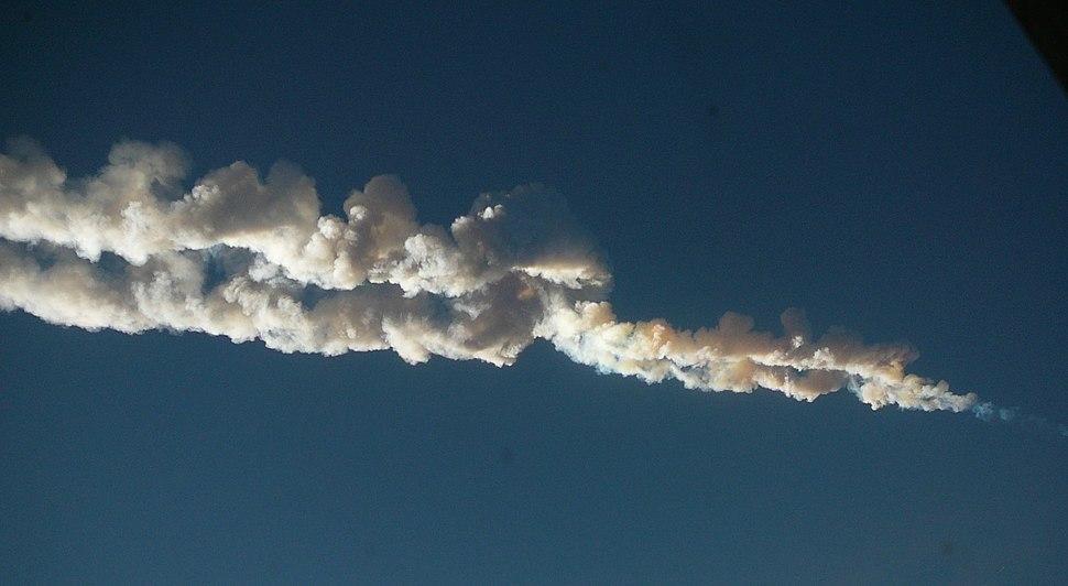 Chelyabinsk meteor trace 15-02-2013