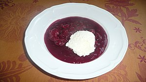 Fruit soup - Sour cherry soup