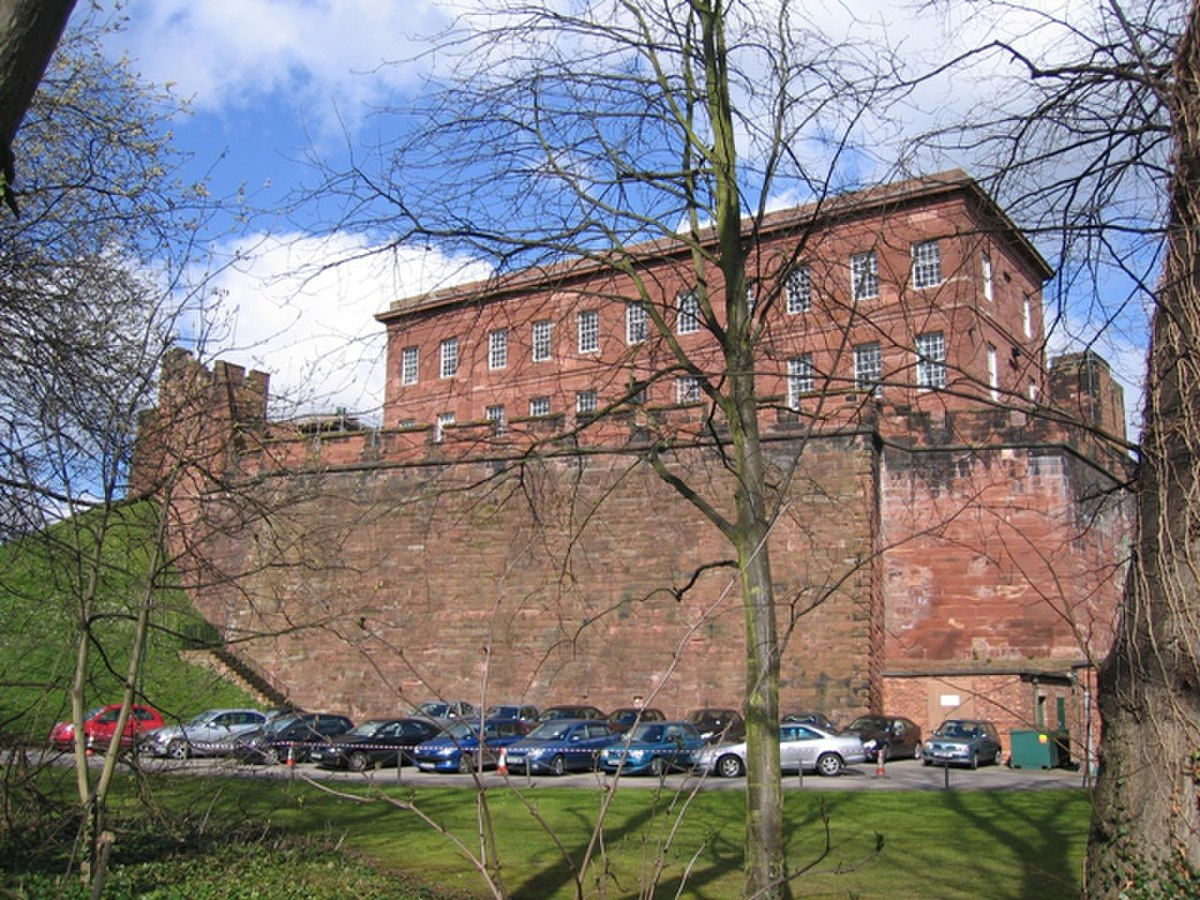 Chester Castle Outer Wall and Napier House - geograph.org.uk - 369343.jpg