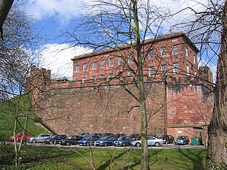 Listed buildings in Chester Castle parish - Image: Chester Castle Outer Wall and Napier House geograph.org.uk 369343