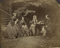 Cheyne Walk, Chelsea, London Christina, Maria, and Frances, and Dante Gabriel Rossetti, taken by Lewis Carroll.png
