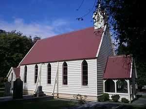 Lower Hutt - Christ Church, Taitā, built in 1853 is the oldest church in the Wellington region.