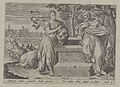Christ and the woman of Samaria 1585 print by Ambrosius Francken I, S.I 1070, Prints Department, Royal Library of Belgium.jpg