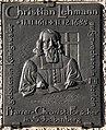 Christian Lehmann Gedenktafel 2011 Königswalde.JPG