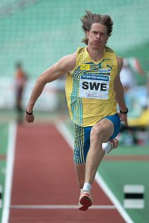 Christian Olsson Swedish triple jumper