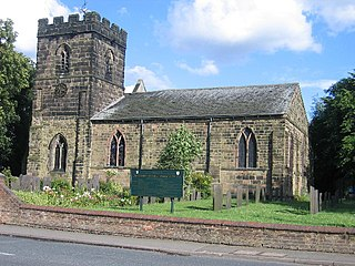 Church Gresley village in United Kingdom