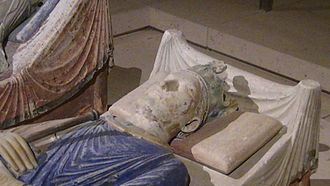 Henry II of England - Detail from Henry II's effigy in Fontevraud Abbey, Chinon