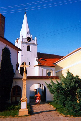 Telnice (Brno-Country District) - Image: Church of Saint John the Baptist in Telnice 1995