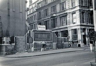 St Swithin, London Stone - Demolition of the Wren church, 1961-2
