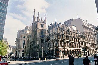St Andrew Undershaft - St Andrew Undershaft in 2001