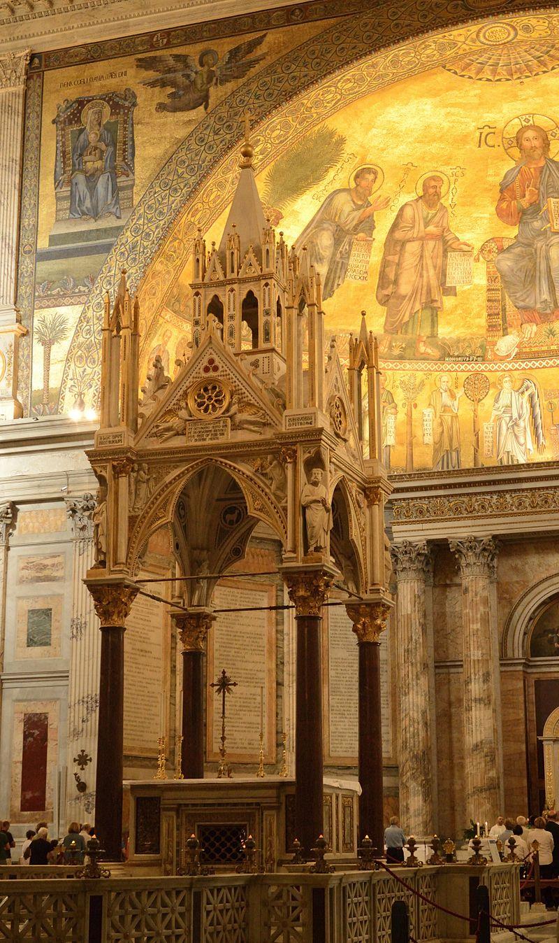 OCCASION DE L'INAUGURATION DE L'ANNÉE PAULINIENNE  HOMÉLIE DU PAPE BENOÎT XVI dans année paulinenne 800px-Ciborio_S._Paolo_fuori_le_mura