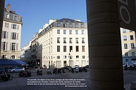 21 rue de l'Odeon (red point) Cioran a Paris3.jpg
