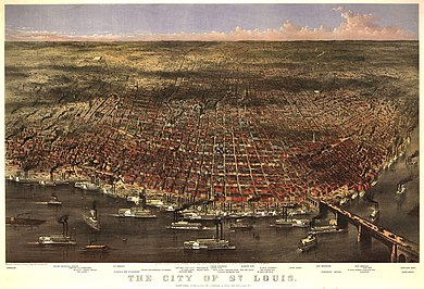 City of St. Louis and Riverfront, 1874 City of Saint Louis and Riverfront, 1874.jpg