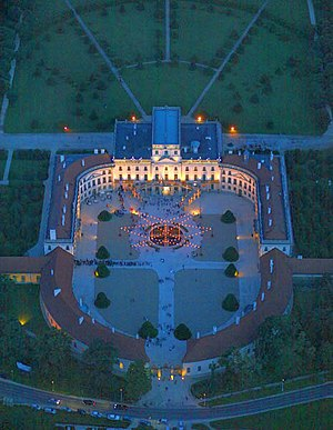 Fertőd - The palace at night