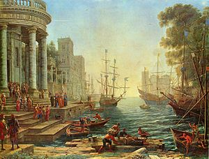 1641 in art - Claude - The Embarkation of St. Ursula