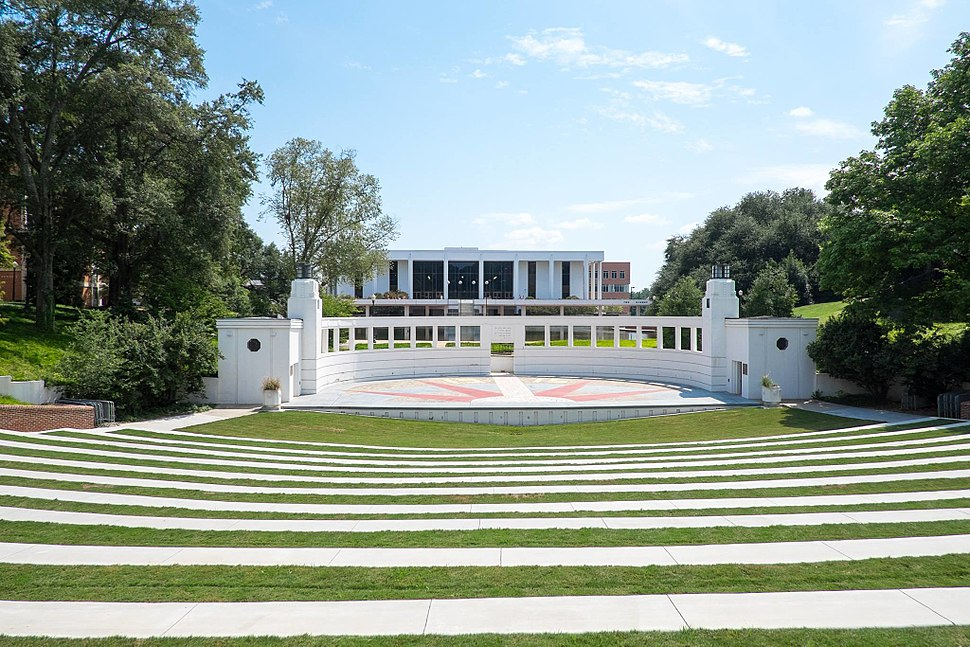 Clemson University Outdoor Theater and Cooper Library