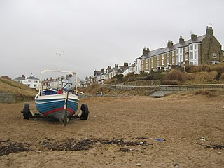 Marske-by-the-Sea Village in North Yorkshire, England