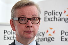 Close up of Michael Gove at Policy Exchange delivering his keynote speech.jpg
