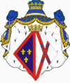 Coat of Arms of D. Diana Álvares Pereira de Mello, 8th Duchess do Cadaval and Duchess of Anjou.png