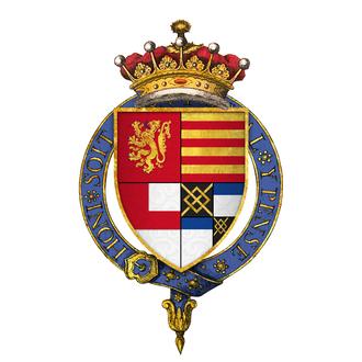 Henry FitzAlan, 19th Earl of Arundel - Arms of Sir Henry FitzAlan, 19th Earl of Arundel, KG