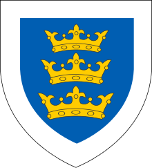 Coat of arms of the Lordship of Ireland.svg
