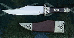 Bowie knife - A coffin-handled Bowie knife