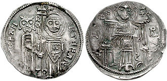 Battle of Velbazhd - A coin of Stefan Decanski.