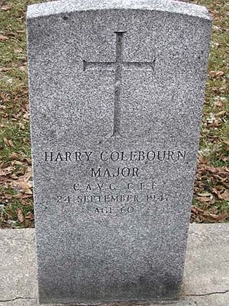 Harry Colebourn - Colebourn is buried in a military cemetery in Canada underneath a regulation grave marker.