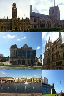 Bradford city in the City of Bradford, Yorkshire, England