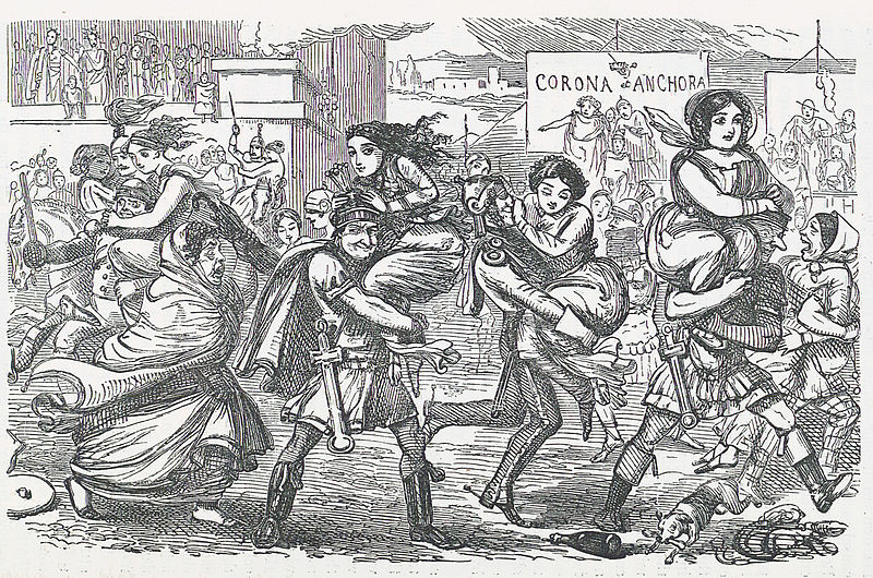 File:Comic History of Rome p 010 The Romans walking off with the Sabine Women.jpg