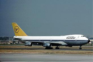 Condor (airline) - Condor Boeing 747-200 in 1976