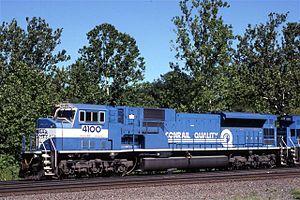 EMD SD80MAC - Image: Conrail SD80MAC 4100