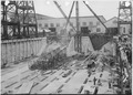 Construction of shipbuilding dock, view from east end of Cross Trestle. Looking NW. - NARA - 299637.tif