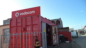Shipping container architecture - Shipping container store in Joe Slovo Park, Cape Town, South Africa.