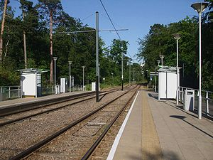 Coombe Lane tramstop look east.JPG