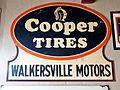 Cooper Tires Walkersville Motors enamel advertising sign in the Louwman museum.JPG
