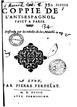 Antoine Arnauld (lawyer) - 1594 pamphlet by Antoine Arnauld