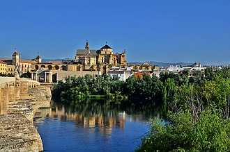 Mosque–Cathedral of Córdoba - Córdoba Mosque across the Guadalquivir river