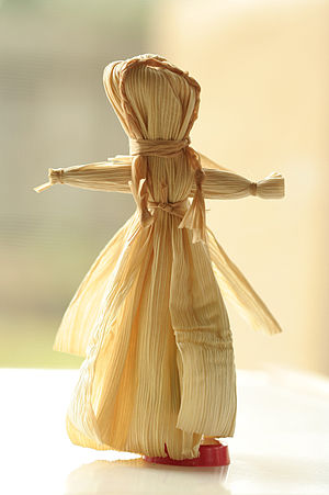 Corn husk doll - A corn husk doll made in traditional design