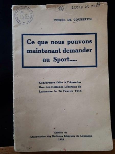 File:Coubertin Ce que nous pouvons 1918.djvu