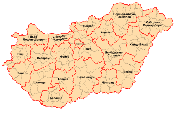 Counties of Hungary 2006-ru.png