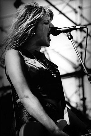 Hole (band) - Courtney Love performing with Hole at Big Day Out, Melbourne, January 22, 1995.