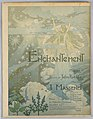 Cover, Cover for music score of Massenet's Enchantment, ca. 1890 (CH 51685251-2).jpg