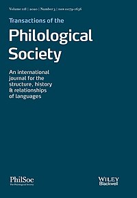 Cover, Transactions of the Philological Society.jpg