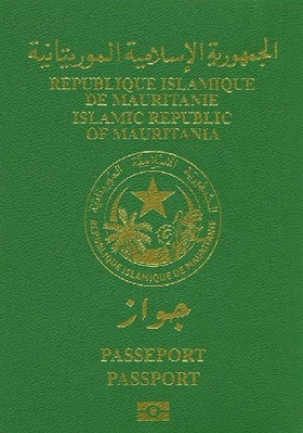 Couverture du passeport ordinaire biométrique mauritanien.