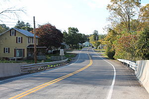 Cowan, Pennsylvania - Pennsylvania Route 192 in Cowan